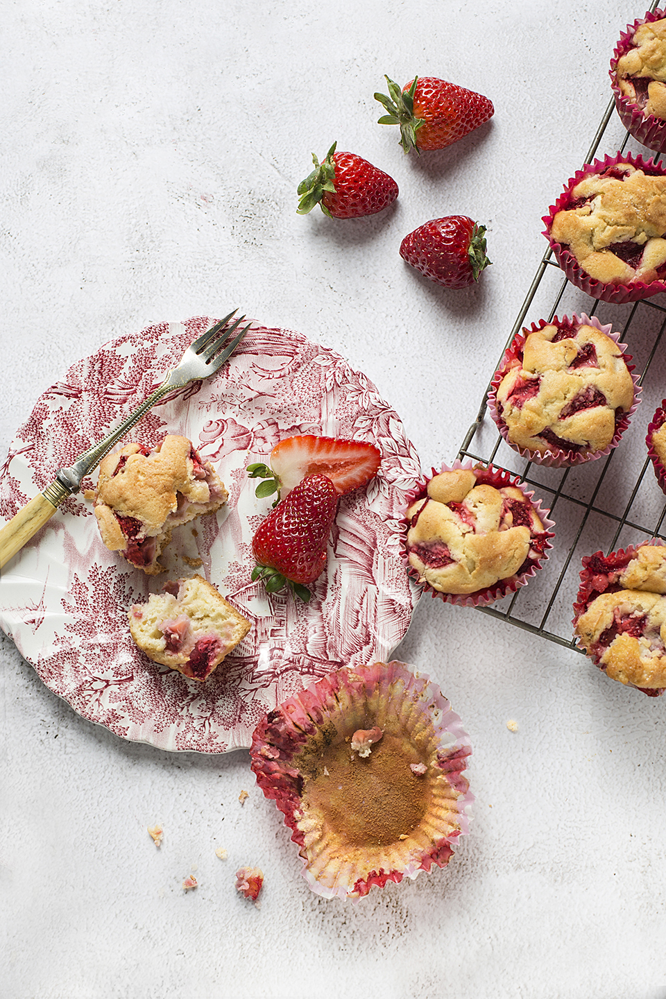 Food Photographer UK Strawberry cake, strawberry muffins Commercial Photographer Liverpool, Food Photographer Liverpool, Manchester, Leeds, Preston, Blackburn,