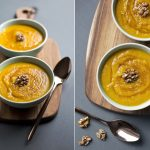 Pumpkin and Walnut Soup with maple syrup, Food photographer Liverpool, Manchester, London, birmingham