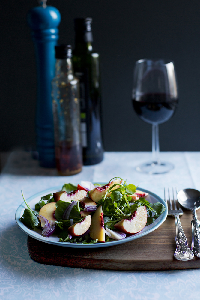 Nectarine fresh salad food photographer Manchester, Liverpool, Commercial
