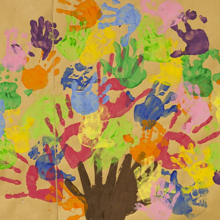 children's painting of tree