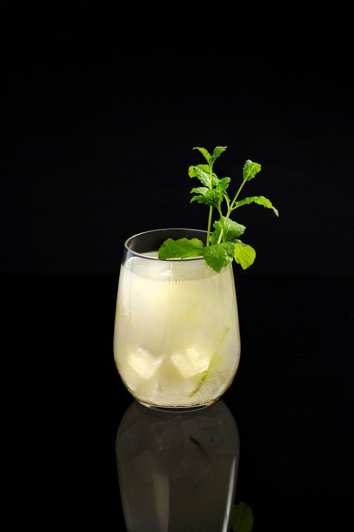 Food Drink photographer Kombucha Cocktail Mint Patricia Niland Drinks Photography