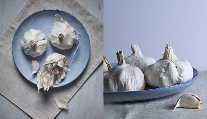 garlic on a plate food photographer food photography uk