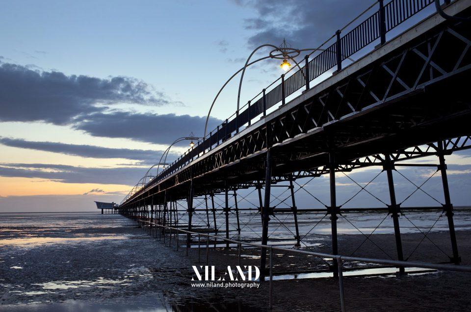 Southport Pier Sunset Merseyside UK, Patricia Niland Photography